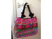 Woman's holiday Thai style day bag