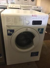 8 KG LOAD INDESIT WASHING MACHINE IN GREAT CONDITION