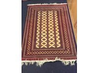 Vintage Turkoman rug - attractive silky texture, ideal as wall hanging or, floor covering.