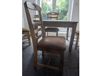 4X WOODEN DINING ROOM CHAIR