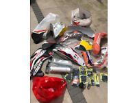 Ktm 450 exc plastics and parts