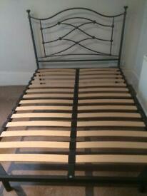 Metal double bedframe