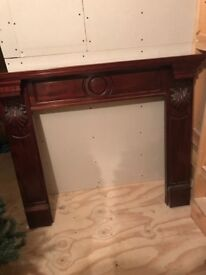 Mahogany mantle surround/ fireplace