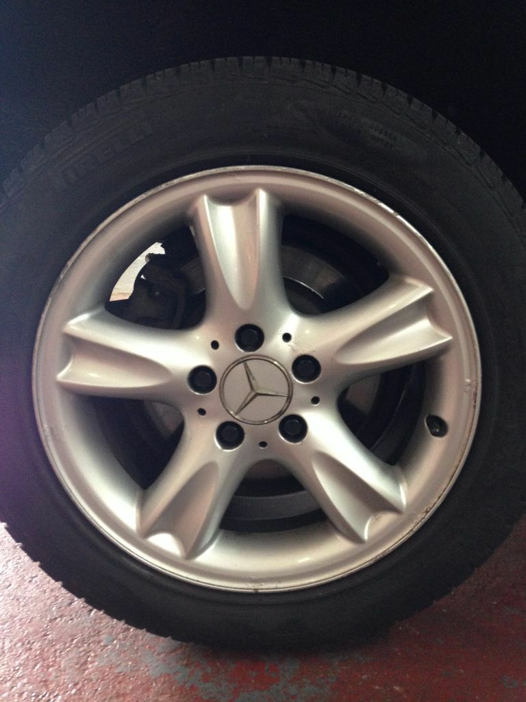 Genuine 4x mercedes benz alloy wheels with new pirelli for Mercedes benz mag wheels