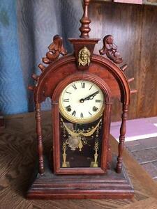 1870's Bridgeport Parlor Clock. Working Antique Mantle Clock. Pre Ansonia. Rare Collector's Clock.