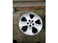 Vauxhall 17 inch Alloy wheels X4