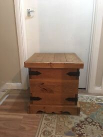 Side Table with storage x2