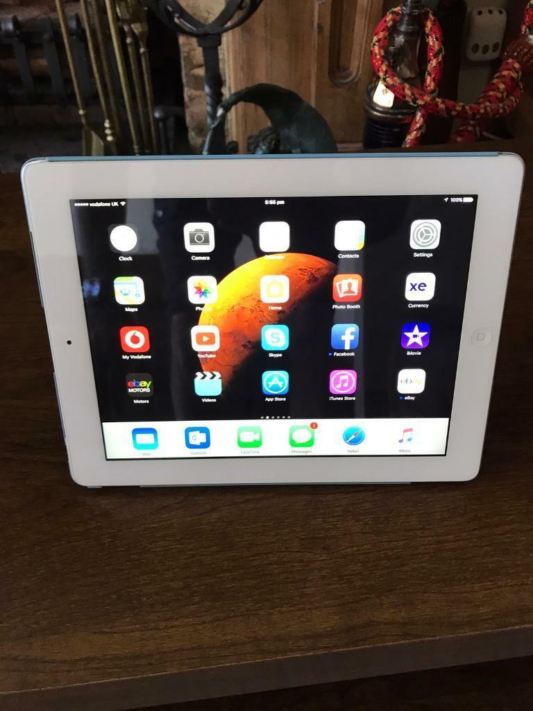 Ipad 4 32 GB WiFi and Sim unlocked to all networksin Southend on Sea, EssexGumtree - Ipad 4 in white 32 GB unlocked to all networks good condition, it comes with original magnetic 3 ways Apple case cost me £65 and the original charger