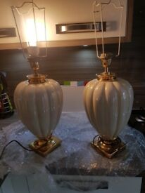 Cream pearl lamps