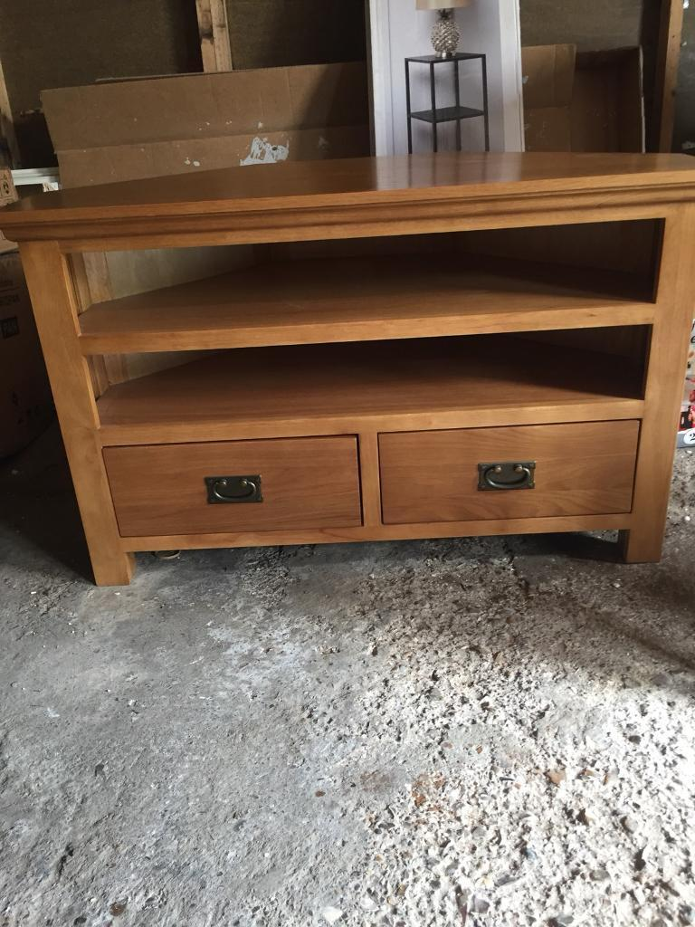 best cheap f175b db559 Dunelm dorchester oak corner tv unit | in Gaywood, Norfolk | Gumtree