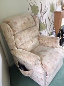 electric mobility recliner chair with dual motor system hardly used only 2 years old .