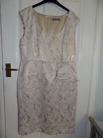 Gold and Cream 2 piece occasion dress.