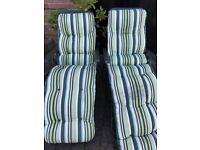 2 garden chairs/ sun loungers