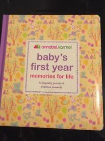 Baby's first year book