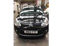 2012 CITROEN C3 BLACK 1.4 PETROL ALLOYS INSURANCE LOSS FRONT DAMAGE DRIVE AWAY SEE PICTURES