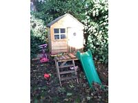 Playhouse and slide for sale collection only