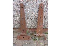 Vintage Cast Iron Barn Door Hinges