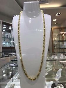 10k Yellow Gold Byzantine Link chain 30 inches 5 mm 46.6 gr