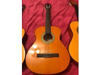 3 acoustic guitars