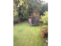 12ft Trampoline with green padding and 2.7m safety enclosure - GC
