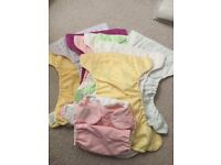 10 Cloth Nappies, BumGenius, various colors, one size