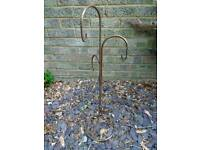 Metal stand for lanterns etc