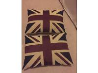 Union Jack cushions (x2)