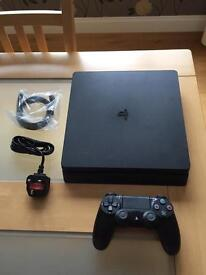 PS4 500GB Slim Console with games, boxed. Warranty