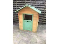 Wooden kids playhouse, colourful, painted, timber, garden, kids, summer, bargain, value