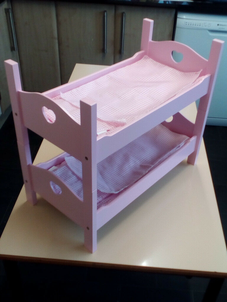 Pink Wooden Single or Bunk Bed