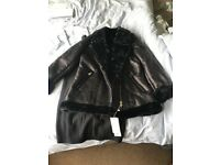 Brand new black aviator jacket