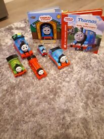 Various thomas the tank toys and books