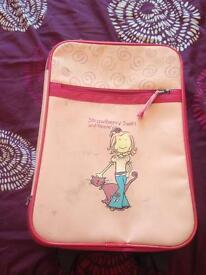 Pink girls suitcase