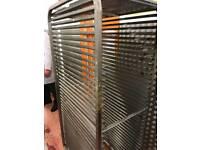 Bakery equipment. Stainless steel racks