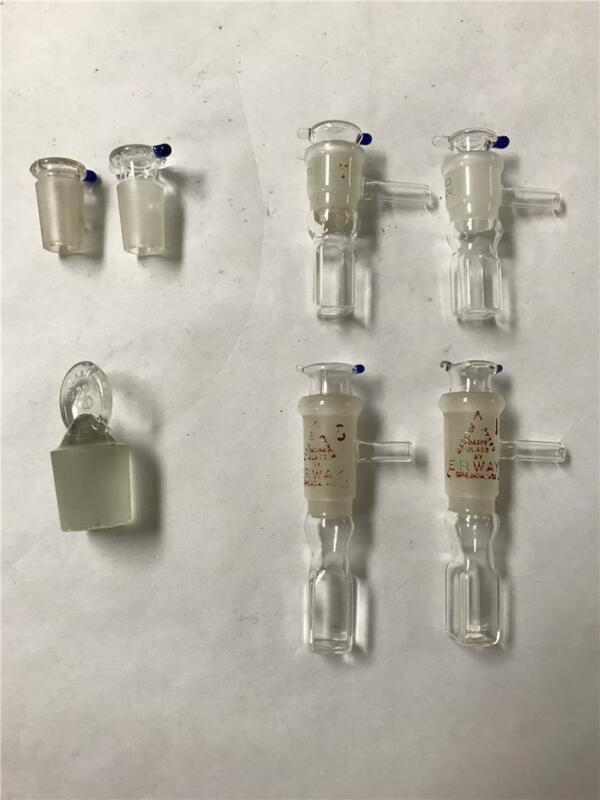 Lot of 4 Glass Vacuum Cuvette, gas control