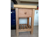 Butchers Block - Solid Wood with Ash Top and Drawer