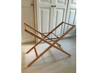 Folding Moses Basket Stand with Moses basket and twomattresses Mamas and Papas FOR SALE