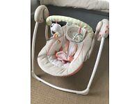 Bright Start portable baby swing