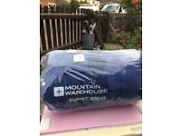 Sleeping bag mountain warehouse range for extreme camping with free bag