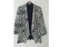 Black and white jacket size 14