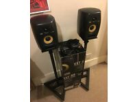 KRK VXT4 (PAIR) Excellent condition with Samson speaker stands.