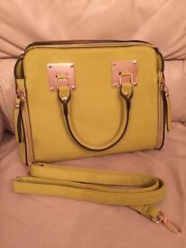 Lime green handbag