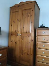 Honey pine wardrobe