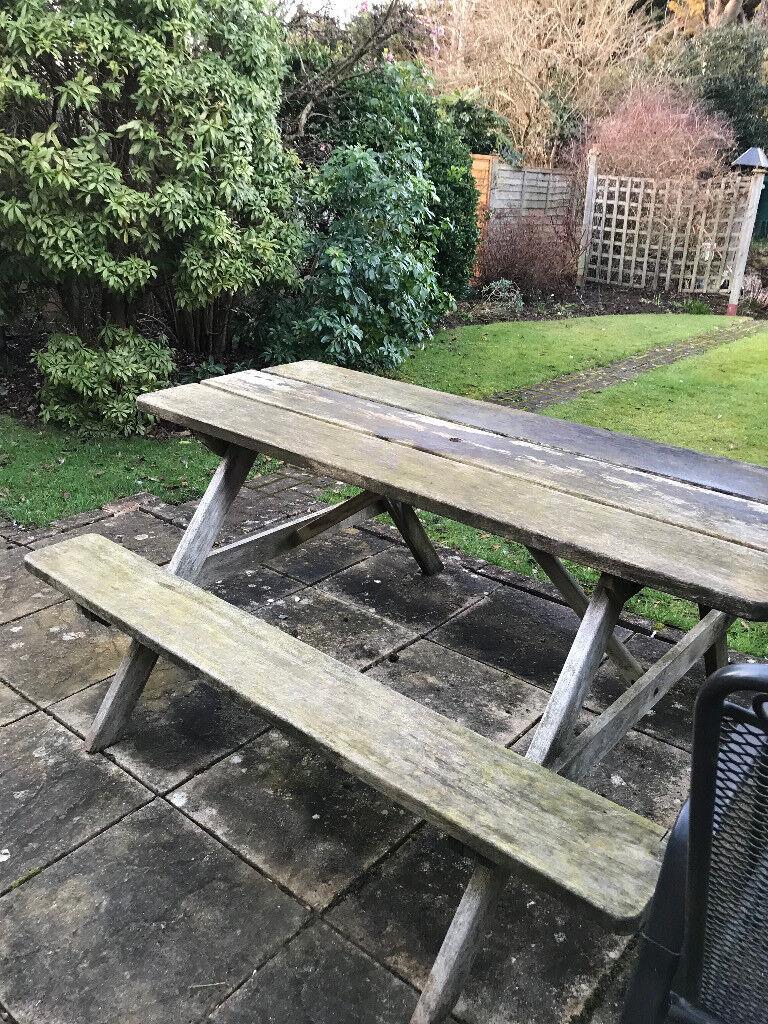 Enjoyable 5 Teak Picnic Bench In Marlow Buckinghamshire Gumtree Dailytribune Chair Design For Home Dailytribuneorg