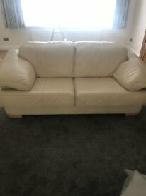 Cream Leater Sofas