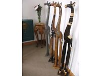 150CM 1.5METRE **NEW** WOODEN GIRAFFES - CHOSE FROM 6 STYLES ALL HAND CARVED