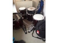 Sonor Acoustic Drum Kit / DW 7000 / Hardware / LOTS of Cymbals Meinl Paiste