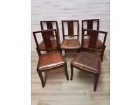 Five Vintage Dining Chairs For Upcycling (DELIVERY AVAILABLE)