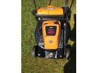 Lawnmower - petrol driven, rear roller