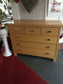 CHEST OF DRAWERS AS NEW LOVELY LOOKING QUALITY 6 DRAWERS